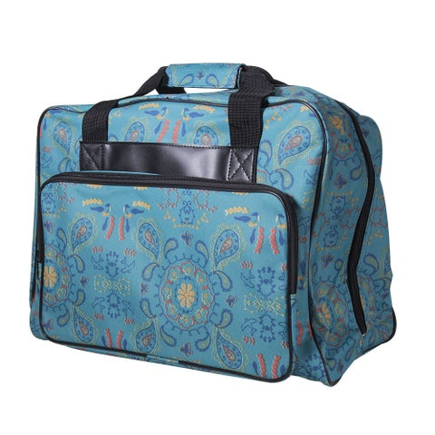 Janome Paisley Blue Canvas Universal Sewing Machine Tote Bag