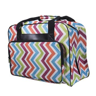 Janome Universal Sewing Machine Multicolored Zigzag Fabric Tote Bag