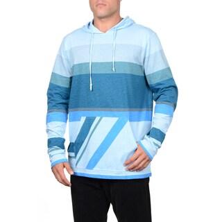 Maui & Sons Men's Point Sur Blue Cotton Knit Fashion Hoodie