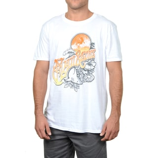 Maui & Sons White Cotton Aloha Cali T-shirt