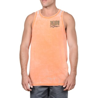 Maui & Sons Men's Stacked Aggro Pink Tank Top