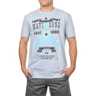 Maui & Sons Blue/Grey Cotton No Kooks Graphic T-shirt