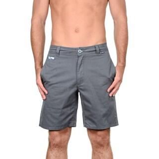 Maui & Sons Men's Blue/Grey Cotton Tropical Fusion Shorts