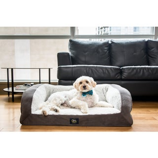 Serta Grey Gel Memory Foam Quilted Pet Couch