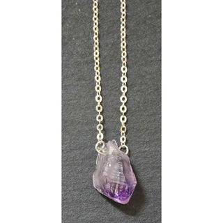 Mint Jules Raw Amethyst Stone Druzy Pendant 16-inch Necklace