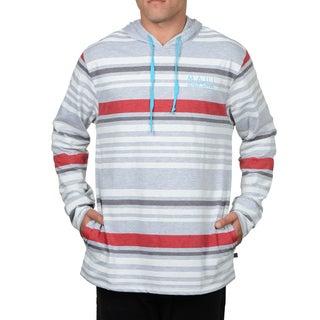 Maui & Sons Jim Men's Blue/Grey Cotton Knit Fashion Hoodie