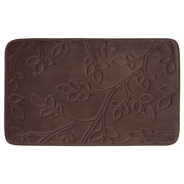 Spring Leaves Micro Plush 17 x 24-inch Memory Foam Bath Mat with BounceComfort Technology