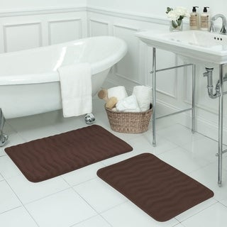 Waves Memory Foam 20 x 32-inch Bath Mat with BounceComfort Technology