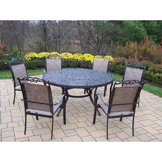 Oakland Living Aluminum Coffee Finish 7-piece Dining Set