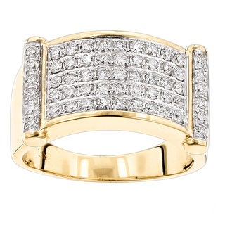 Luxurman Luxurman Rings for Men: Unique 14k Gold Mens Diamond Band 1.25ct (G-H; VS1-VS2)