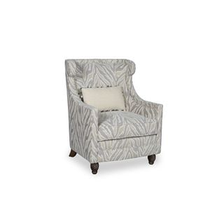 A.R.T. Furniture Amanda Ivory Wingback Accent Chair with Pillow