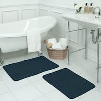 Waves Memory Foam 17 x 24-inch Bath Mat with BounceComfort Technology