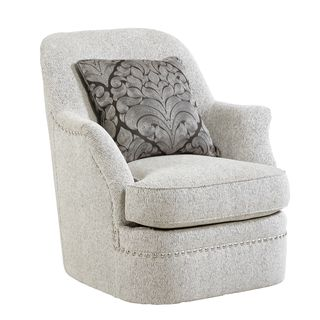 A.R.T. Furniture Amanda Sterling Swivel Armchair with Pillow