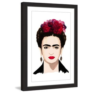 Marmont Hill - 'Frida Kahlo' by Dena Cooper Framed Painting Print