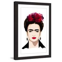 Marmont Hill - 'Frida Kahlo' by Dena Cooper Framed Painting Print - Multi