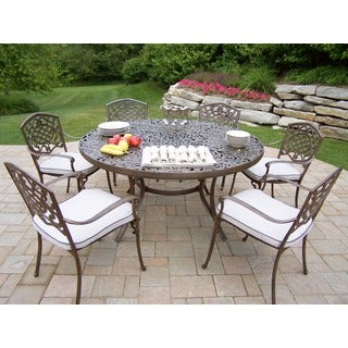 Oakland Living 7-piece Dining Set with 6 Cushioned Stackable Chairs