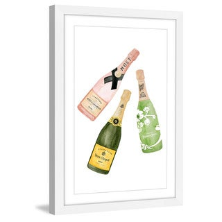 Marmont Hill - 'Champagne Please' by Dena Cooper Framed Painting Print
