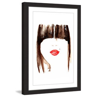 Marmont Hill - 'Bangin Lips' by Dena Cooper Framed Painting Print