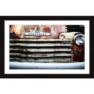 Marmont Hill - 'Classic Chevy' by Sylvia Cook Framed Painting Print