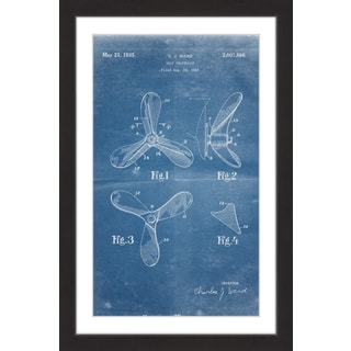 Marmont Hill - 'Ship Propeller 1933 Blueprint' by Steve King Framed Painting Print