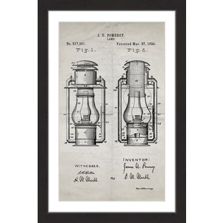 Marmont Hill - 'Lantern 1894 Old Paper' by Steve King Framed Painting Print
