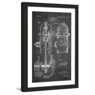Marmont Hill - 'Hydrant 1903 Chalk' by Steve King Framed Painting Print