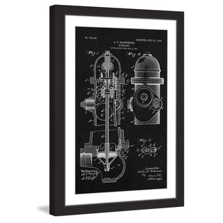 Marmont Hill - 'Hydrant 1903 Black Paper' by Steve King Framed Painting Print