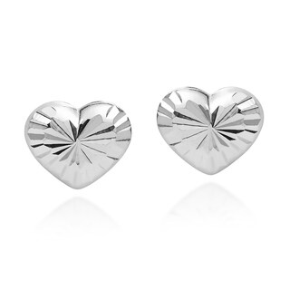 Classy Cute Heart .925 Sterling Silver Stud Earrings (Thailand)