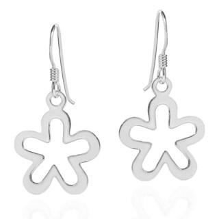 Shiny Retro Daisy Flower .925 Silver Earrings (Thailand)