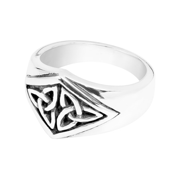 STERLING SILVER TRINITY TRIQUETRA 12MM RING ~ HANDMADE 925 ~ BAND RING