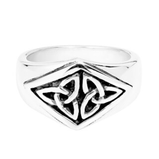 Handmade Nice Celtic Triquetra Knot .925 Sterling Silver Ring (Thailand)
