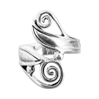 Mod Double Swirl Wrap Style .925 Silver Ring (Thailand)