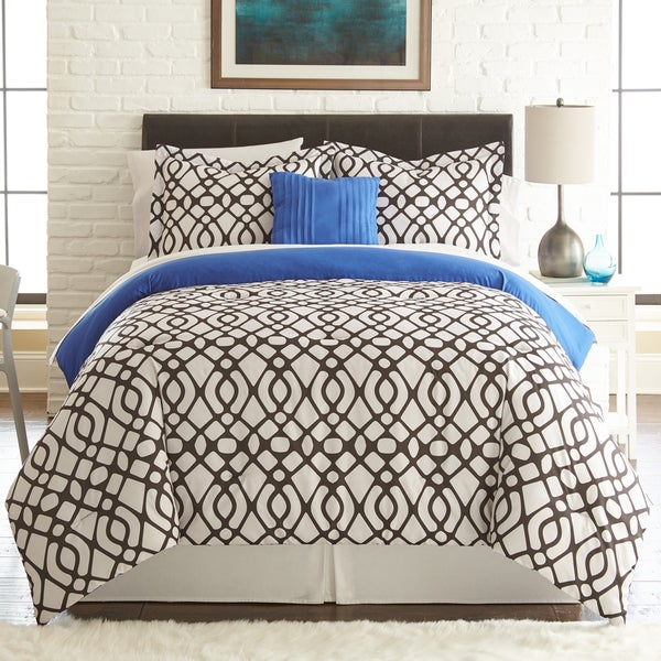 Amraupur Overseas Guillermo 8-piece Printed Reversible Bed in Bag Set