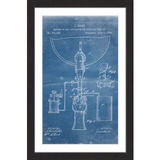 Marmont Hill - 'Bottling Beer 1884 Blueprint' by Steve King Framed Painting Print