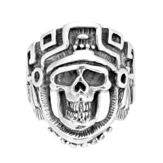 Handmade Skeleton Skull Knight Sterling Silver Ring (Thailand)