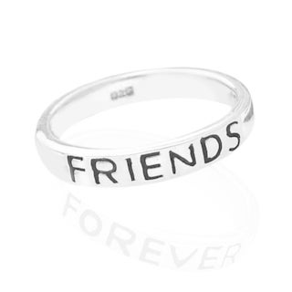 Handmade FRIENDS FOREVER .925 Sterling Silver Band Ring (Thailand)