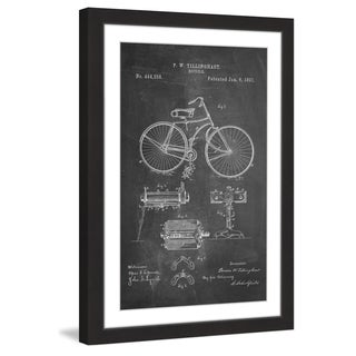 Marmont Hill - 'Bicycle 1891 Chalk' by Steve King Framed Painting Print