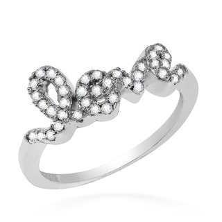 Dazzling Charms of Love Cubic Zirconia .925 Silver Ring (Thailand)