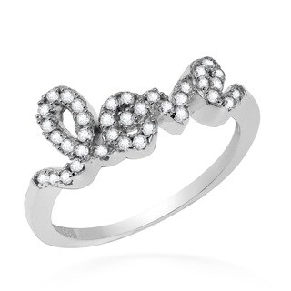 Handmade Dazzling Charms of Love Cubic Zirconia .925 Sterling Silver Ring (Thailand) - Clear (3 options available)