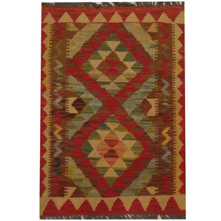 Herat Oriental Afghan Hand-woven Tribal Kilim (2'2 x 3')