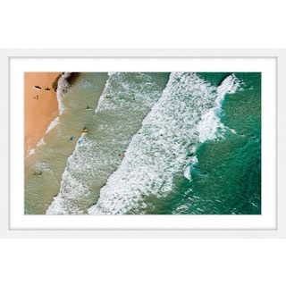 Marmont Hill - 'Crashing Waves' by Karolis Janulis Framed Painting Print