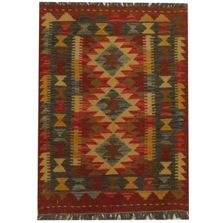 Herat Oriental Afghan Hand-woven Tribal Kilim (2'1 x 2'10)