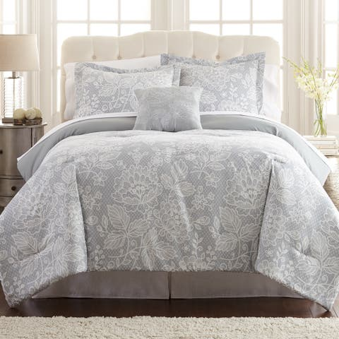 Modern Threads Olivia 8-piece Printed Reversible Bed in Bag Set