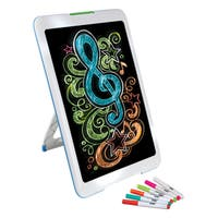 Discovery Kids Neon Glow Drawing Easel with Markers