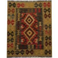Handmade Herat Oriental Afghan Tribal Wool Kilim (Afghanistan) - 2'1 x 2'6