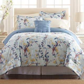 Amrapur Overseas Lucia 8-piece Printed Reversible Bed in Bag Set