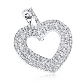 Luxurman Diamond Heart Pendant 14K 0.50ct (H-I; SI2-SI3)
