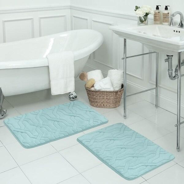 Drona Memory Foam 20 x 32-inch Bath Mat with BounceComfort Technology