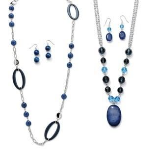 PalmBeach Blue Quartz Necklace/Earring Set Naturalist