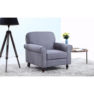 Mid Century Modern Fabric Living Room Accent Armchair